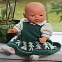 DollKnittingPattern 0012D KARI - Jurkje, Bloesje, Sokjes en Broekje-(Nederlands) | Crafting | Knitting | Baby and Child