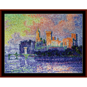 Papal Palace - Avignon Signac cross stitch pattern by Cross Stitch Collectibles | Crafting | Cross-Stitch | Wall Hangings