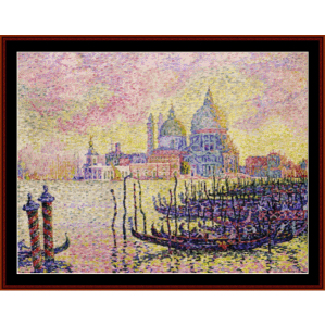 grand canal venice - signac cross stitch pattern by cross stitch collectibles