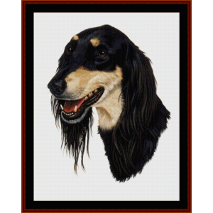 Saluki - Robt. J. May cross stitch pattern by Cross Stitch Collectibles | Crafting | Cross-Stitch | Wall Hangings