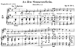 An den Sonnenschein Op.36 No.4, Low Voice in G Major,  R. Schumann. C.F. Peters. | eBooks | Sheet Music