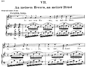 An meinem Herzen, an meiner Brust Op.42 No.7, Low Voice in C Major,  R. Schumann (Dichterliebe). C.F.Peters. | eBooks | Sheet Music