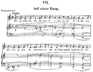 Auf einer Burg Op.39 No.7,  Low Voice in E minor,  R. Schumann (Dichterliebe). C.F.Peters. | eBooks | Sheet Music