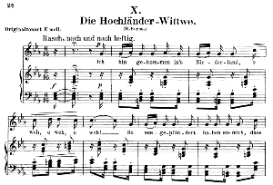 Die Hochländer - Wittwe Op.25 No.10, Low Voice in C minor,  R. Schumann (Myrten). C.F. Peters. | eBooks | Sheet Music