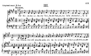 Die Rose, die Lilie, die  Taube, Op. 48 No. 3, Low Voice in A Major,  R. Schumann (Dichterliebe). C.F. Peters.   eBooks   Sheet Music