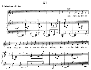 Ein Jüngling liebt ein Mädchen Op.48 No.11, Low Voice in C Major,  R. Schumann (Dichterliebe).  C.F. Peters | eBooks | Sheet Music