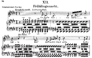 Frühlingsnacht Op. 39 No.12, Low Voice in E Major, R. Schumann. C.F. Peters. | eBooks | Sheet Music