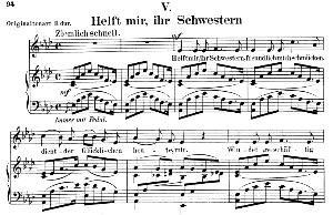 Helft mir ihr Schwerstern Op. 42 No.5, Low Voice in A flat Major, R. Schumann (Frauenliebe-und-leben). C.F. Peters. | eBooks | Sheet Music