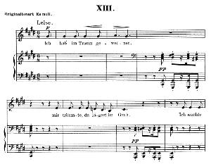 Ich hab im traum geweinet Op.48 No.13, Low Voice in C Sharp minor, R. Schumann (Dichterliebe). C.F. Peters. | eBooks | Sheet Music
