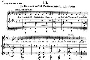 Ich kann's nicht fassen, nicht glauben Op.42 No.3, Low Voice in B flat minor, R. Schumann (Frauenliebe und leben). C.F. Peters. | eBooks | Sheet Music