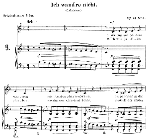 Ich wand're nicht Op.51 No.3, Low Voice in F Major, R. Schumann.  C.F. Peters. | eBooks | Sheet Music