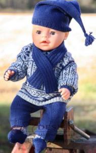 DollKnittingPatterns 0013D VEGARD og VERA - Genser, Bukse, Strømper, Lue og Skjerf-(Norsk) | Crafting | Knitting | Other
