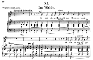 Im Walde Op.39 No.11, Low Voice in G Major, R. Schumann (Liederkreis). C.F. Peters. | eBooks | Sheet Music