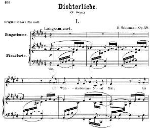 Im wunderschönen monat Mai Op. 48 No.1, Low Voice in C Sharp minor, R. Schumann (Dichterliebe).  C.F. Peters. | eBooks | Sheet Music