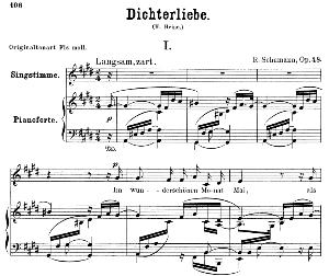 im wunderschönen monat mai op. 48 no.1, low voice in c sharp minor, r. schumann (dichterliebe).  c.f. peters.