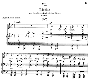 Lied II aus dem schenkenbuch Op. 25 No.5, Low Voice in G minor, R. Schumann (Myrten). C.F. Peters. | eBooks | Sheet Music