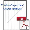Paper Bead Printable Cutting Template, Makes 5/8 x 1/2 x 11 Strips | Crafting | Paper Crafting | Other