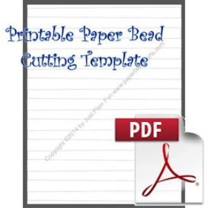 Paper Bead Printable Cutting Template, Makes 5/8 x 1/2 x 8 1/2 strips. | Crafting | Paper Crafting | Other