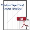 Paper Bead Printable Cutting Template, Makes Straight Strips, 5/8 x 5/8 x 11 | Crafting | Paper Crafting | Other