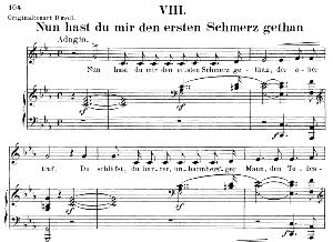 Nun hast du mir den ersten Schmerz getan Op 42 No. 8, Low Voice in C minor, R. Schumann.  C.F. Peters. | eBooks | Sheet Music