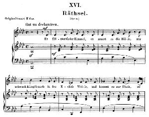 Rätsel Op 25 No. 16, Low Voice in A flat Major, R. Schumann (Myrten). C.F. Peters | eBooks | Sheet Music