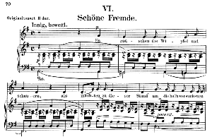 Schöne Fremde Op. 39 No. 6, Low Voice in G Major, R. Schumann. C.F. Peters. | eBooks | Sheet Music