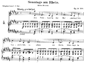 Sonntags am Rhein Op.36 No.1,Low Voice in B Major, R. Schumann. C.F. Peters. | eBooks | Sheet Music