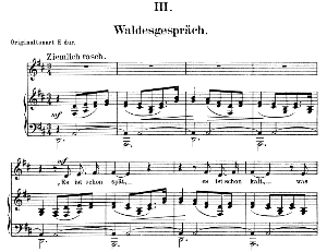 Waldesgeschpräch Op.39 No.3, Low Voice in D Major, R. Schumann (Liederkreis). C.F. Peters. | eBooks | Sheet Music