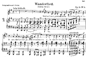 Wanderlied Op.35 No.3, Low Voice in G Major, R. Schumann. C.F. Peters. | eBooks | Sheet Music