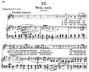 Weit, weit Op.25 No.20, Low Voice in E minor, R. Schumann (Myrthen). C.F. Peters. | eBooks | Sheet Music