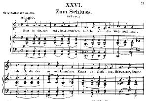 Zum schluss Op.25 No.26, Low Voice in F Major, R. Schumann (Myrthen). C.F. Peters.   eBooks   Sheet Music