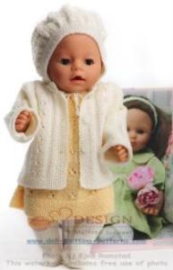 DollKnittingPatterns 0129D GYDA - Kjole, Jakke, Truse, Hårbånd og Sokker -(Norsk | Crafting | Knitting | Other