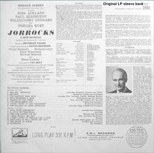 Third Additional product image for - Jorrocks: Original 1966 Cast Recording