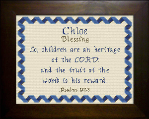 Name Blessings -  Chloe 2 | Crafting | Cross-Stitch | Religious