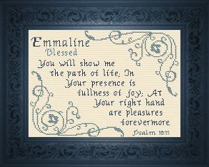 Name Blessings -  Emmaline   Crafting   Cross-Stitch   Other