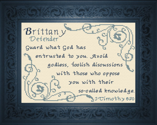 First Additional product image for - Name Blessings -  Brittany 2