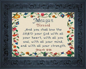 Name Blessings -  Meagan | Crafting | Cross-Stitch | Religious