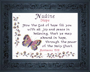 Name Blessings -  Nadine | Crafting | Cross-Stitch | Religious