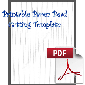 Paper Bead Printable Cutting Template, Makes, 5/8 x 1/16 x 11 Strips | Crafting | Paper Crafting | Other