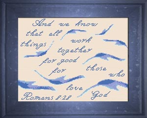 All Things For Good - Romans 8:28 - Chart | Crafting | Cross-Stitch | Religious
