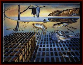 disintegration of persistence of memory - dali cross stitch pattern by cross stitch collectibles