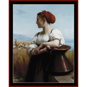 The Harvester - Bouguereau cross stitch pattern by Cross Stitch Collectibles | Crafting | Cross-Stitch | Wall Hangings