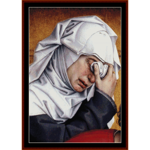 Deposition Detail - Van der Weyden cross stitch pattern by Cross Stitch Collectibles | Crafting | Cross-Stitch | Wall Hangings