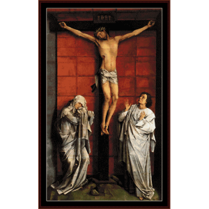 Christ on the Cross - Van der Weyden cross stitch pattern by Cross Stitch Collectibles | Crafting | Cross-Stitch | Wall Hangings