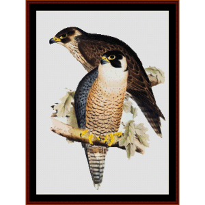 peregrine falcon - wildlife cross stitch pattern by cross stitch collectibles