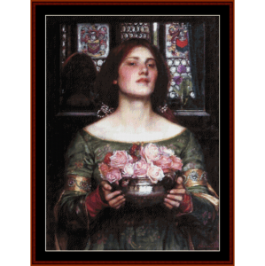 Gather Ye Rosebuds II - Waterhouse cross stitch pattern by Cross Stitch Collectibles | Crafting | Cross-Stitch | Other