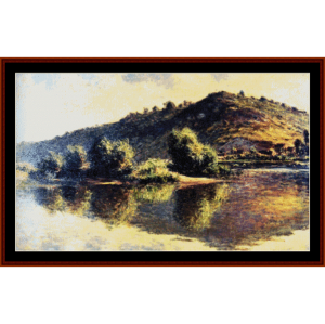 Seine at Port Villez - Monet cross stitch pattern by Cross Stitch Collectibles | Crafting | Cross-Stitch | Other