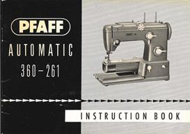 pfaff automatic sewing machine 360-261 instructions manual
