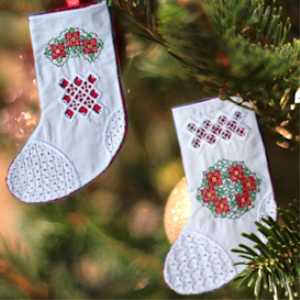 Hardanger Stockings JEF | Crafting | Embroidery