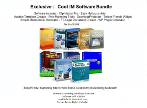 software bundle with resale rights!